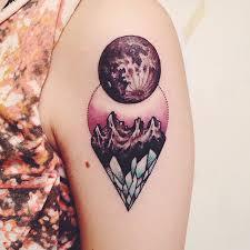 unique moon on left shoulder