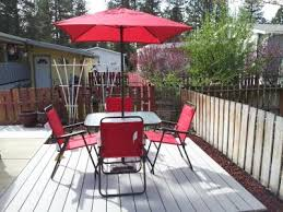 mainstays searcy lane 6 piece padded folding patio dining set red