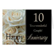 happy 10th anniversary greeting cards zazzle