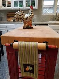 upcycled kitchen ideas rolling pin towel rack s rolling pin gets a purpose