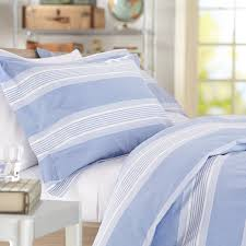 amazon com pinzon chambray stripe duvet set king french blue