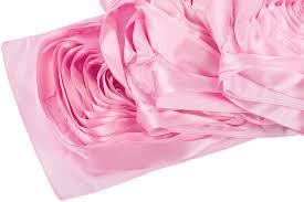 pink rosette table runner large rosette flower table runner pink medium cv linens