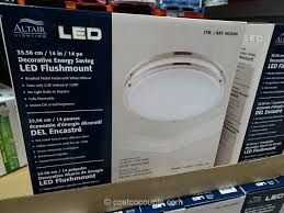 Costco Led Light Fixture Altair Lighting 14 Inch Flushmount Led Light Fixture Costco