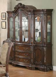 coaster 103114 andrea brown cherry dining hutch buffet china cabinet
