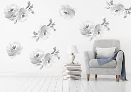 temporary wallpaper floral wall decal removable and reusable fabric floral wallpaper