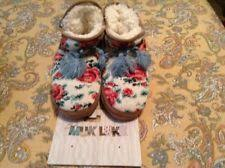 womens slipper boots size 11 muk luks womens slipper boots size 7 cloth with button sides