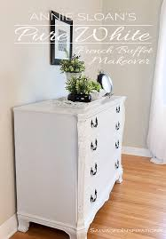 pure white chalk paint buffet makeover salvaged inspirations