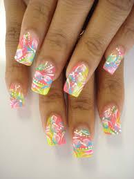 nail art blue french tip nail designs beauty nails pinterest