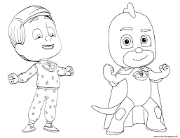 pj masks coloring pages free download printable
