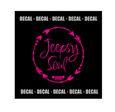preppy jeep stickers 5 circle jeepsy soul with grill decal circled arrows design