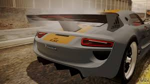 porsche 918 rsr concept porsche 918 rsr for gta san andreas