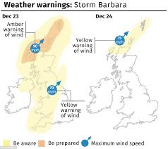 Wind Speed Map Planes Are Buffeted By The Wind As Storm Barbara Arrives To Batter
