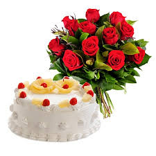 online flowers bokaro online flowers gifts delivery roses and eggless cake combo