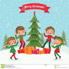 elf dancing christmas card christmas lights decoration