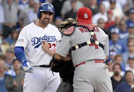 cardinals vs dodgers fight benches clear in first game of post