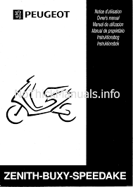 peugeot buxy scooter user manual download as pdf