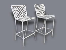 bar stools for outdoor patios pair of mid century brown jordan patio bar stools outdoor cliff