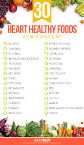30 heart healthy foods for your grocery list skinny mom