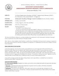 Event Resume Template Resume Resume For Event Coordinator
