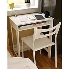 Small Desk With Drawer Ikazs Wood Computer Moving Desk Whitesimple White Finish Office
