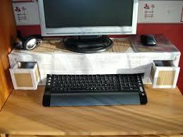 rehausseur de bureau rehausseur ordinateur bureau 2 tiroirs pour les tylos et autres