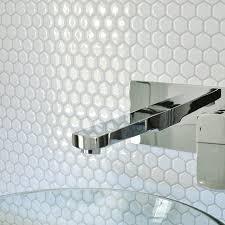 stick on tile backsplash smart tiles contemporary white hexagon peel and stick tile