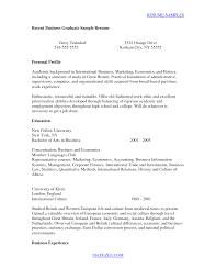 good resume exles for recent college graduates sle resume for recent college graduate therpgmovie