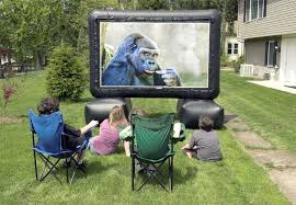 Backyard Home Theater Backyard At Home Inflatable Movie Screen