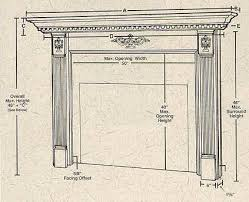 Standard Fireplace Dimensions by Lovely Standard Fireplace Dimensions 330252 Home Design Ideas