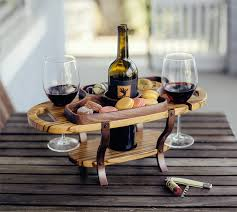 wine bottle tray wine bottle caddy single bottle with two glass holders and serving