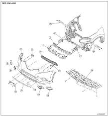 nissan rogue service manual front bumper removal and