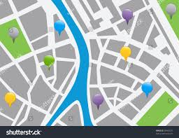 Map With Labels City Map Labels Vector Icon Illustration Stock Vector 96483227