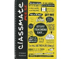 classmate note itc classmate pulse 1 subject a4 ruled note book