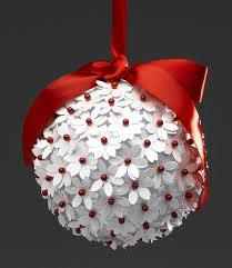 five tree ornaments balls