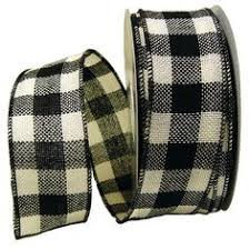 black and white wired ribbon faux burlap ribbon 4 x 25 yards color black and check