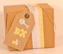 baby gift wrap baby shower gift wrapping kraft paper