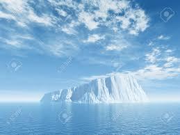 iceberg against blue cloudy sky 3d illustration stock photo