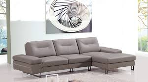 Modern Leather Sectional Sofas Casa Camino Modern Taupe Leather Sectional Sofa