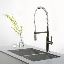 kpf 1650ss nola single lever commercial style kitchen faucet in kraus kpf 1650ss nola single lever commercial style kitchen faucet in stainless steel