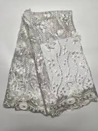 wholesale tulle design indian net fabric 3d applique lace fabric