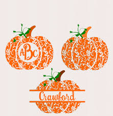 halloween silhouette png fall pumpkin svg dxf eps circle monogram frame cutting files