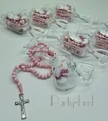 baptism recuerdos 12 baptism candy party favors pink rosary recuerdos de bautizo