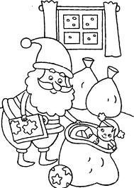 christmas coloring pages for kids santa claus preparing presents