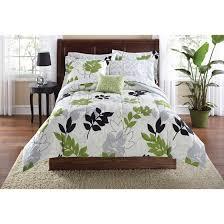 Cynthia Rowley Bedding Queen Twin Xl Bedding Set College Dorm Room Dorms Green Black Wht Leaf