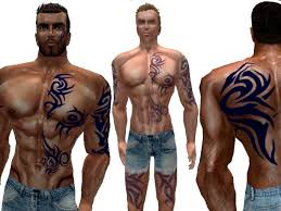 second life marketplace tribal full body tattoo
