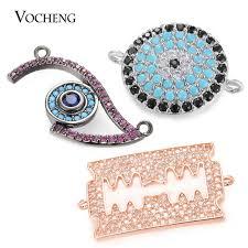 aliexpress buy new arrival 10pcs upscale jewelry 10pcs lot luxury cz diamond eye shape spacer brass