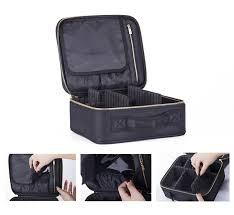Professional Makeup Carrier Cosmetic Bag Mini Makeup Train Case With Portable Freely Combined