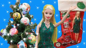 barbie christmas stocking and disney princess and frozen surprise