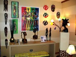 winning natural african living room decor ideas statuettes and