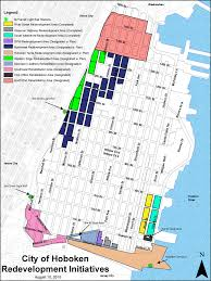Map Of Hudson County Nj City Of Hoboken Nj Redevelopment Areas And Studies